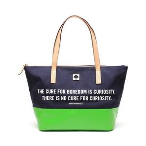 Kate Spade Dorothy Parker call to action tote